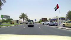 Dubai city drive, subjective view Stock Footage