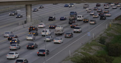 405 South slow traffic Stock Footage