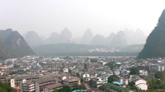 Hill and river. Yangshuo. Guangxi. China. - stock footage