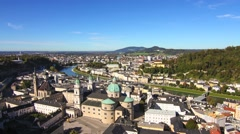 Timelapse of the panorama of Salzburg Stock Footage