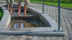 Walk trough the therapeutic pools Stock Footage