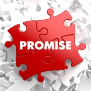 Promise on Red Puzzle Stock Illustration