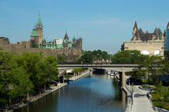 The Rideau Canal in Ottawa, Canada - stock photo