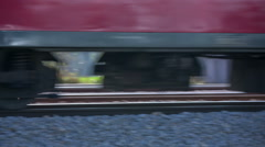 Train passing by in the countryside Stock Footage