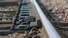 Rail open up to change the way for train Stock Footage