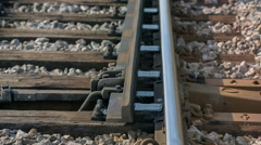 Changing the way at the rail rode Stock Footage