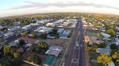 Aerial Over Cloncurry Australian Outback Town Stock Footage