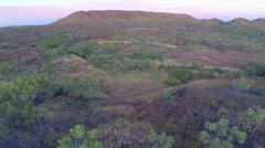 Mountains Around Mt Isa At Sunset Stock Footage