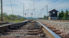 Preparing the rails for coming train Stock Footage