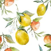 Lemons and oranges - stock illustration