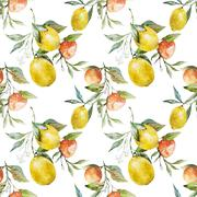 Lemons and oranges Stock Illustration