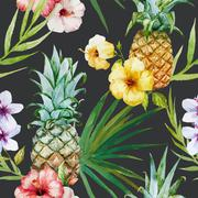 Tropical pattern - stock illustration