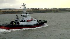 Scotland city of Invergordon 018 tugboat at the eastern Scottish coast Stock Footage