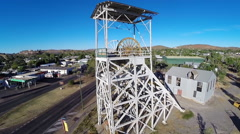 Crane Up Over A Mining Platform In Mt Isa Stock Footage