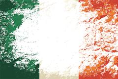 Irish flag. Grunge background. Vector illustration Stock Illustration
