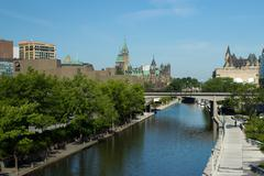 The Rideau Canal in Ottawa, Canada - stock photo