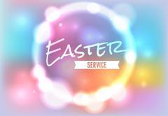 Easter Church Service Illustration - stock illustration