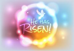 Christian Easter Risen Illustration Stock Illustration