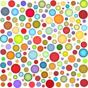 joyful sphere bubble pattern in multiple color - stock illustration