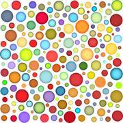 Joyful sphere bubble pattern in multiple color Stock Illustration