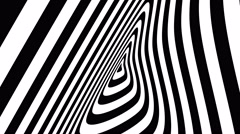 Concentric oncoming abstract symbol, blot - optical, visual illusion Stock Footage