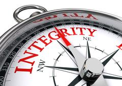 Integrity conceptual compass Stock Photos