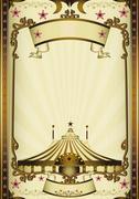 Fantastic entertainment circus - stock illustration