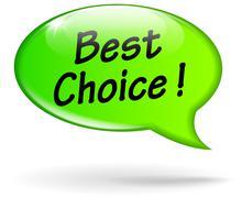 best choice speech bubble - stock illustration