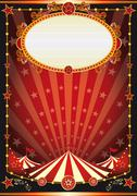 red and black circus background - stock illustration