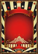 Stock Illustration of Nice vintage circus entertainment