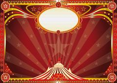Horizontal Blue circus background Stock Illustration