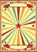 Multicolor retro sunbeams background Stock Illustration