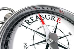 discover the treasure conceptual image - stock photo
