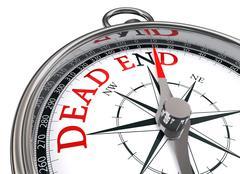dead end concept compass - stock photo