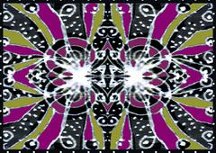 Colorful Decorative Abstract Pattern Stock Illustration