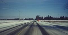 Jm1493 Winter Driving POV Snow Storm Roads Timelapse Stock Footage