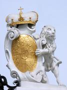 Detail at the main gate to the Upper Belvedere Palace Vienna Stock Photos