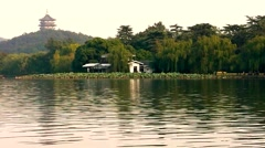 Landscape of West lake. Hangzhou. China. Stock Footage