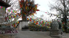 In Tibetan monastery. Shangri-la. China. Stock Footage