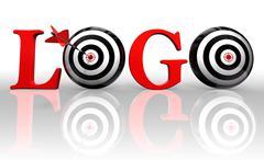Logo conceptual target Stock Photos