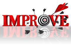improve conceptual target - stock photo