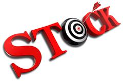 Stock red word and conceptual target Stock Photos