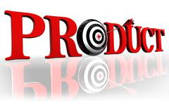 product red word and target - stock photo