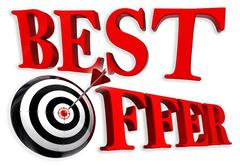 best offer red logo - stock photo