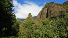 Iao needle zoom Stock Footage