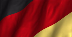 Germany Waving Flag-4K Stock Footage