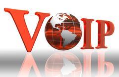 Voip logo word Stock Photos