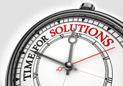 time for solutions concept clock - stock photo