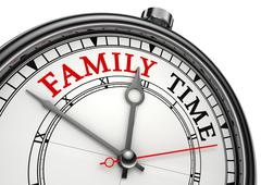 family time concept clock - stock photo