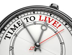 time to live concept clock - stock photo